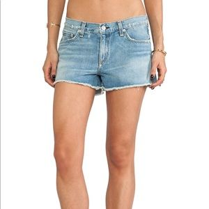 RAG & BONE Del Norte denim cutoff shorts